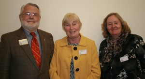 Donald G Davis and Heather Lewis with LCF President, Margaret Keeling