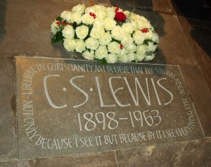 Memorial to C. S. Lewis at Westminster Abbey